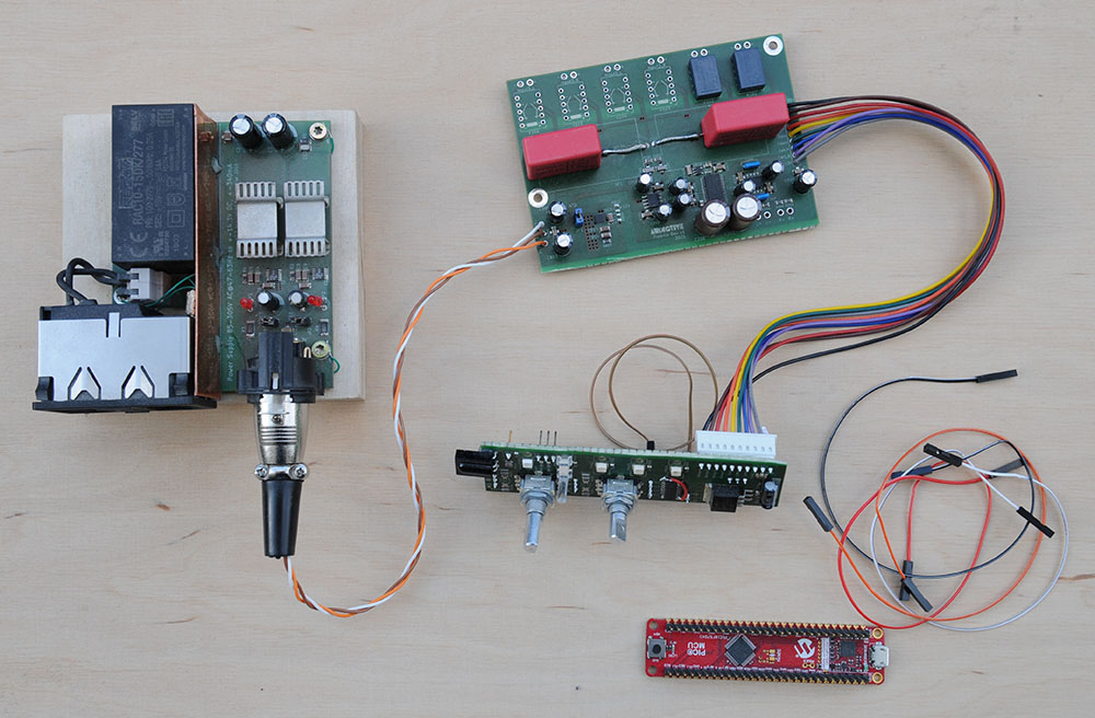 Audictive preamp testboard  Muses 72323 OPA 1656