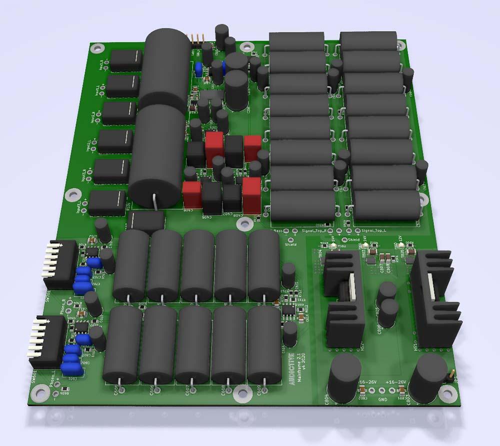 Audictive PCB design